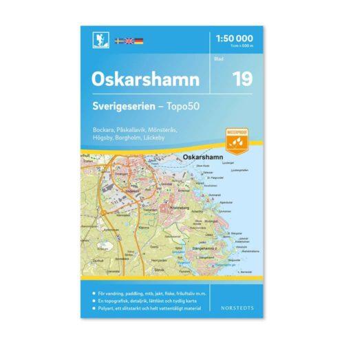 Friluftskarta 19 Oskarshamn Sverigeserien 97891130852821 framsida