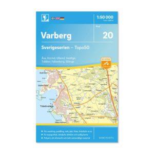 Friluftskarta 20 Varberg Sverigeserien 9789113085838