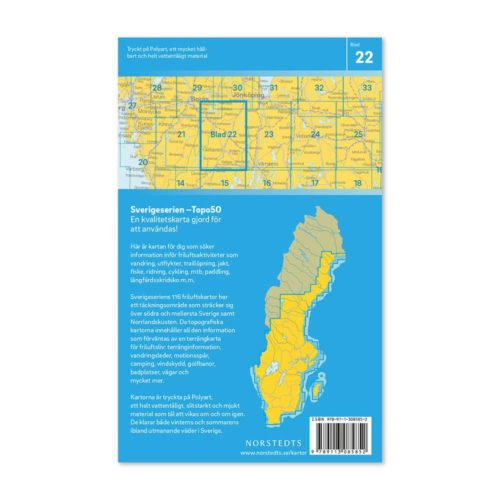 Friluftskarta 22 Gislaved Sverigeserien för mtb,paddling,outdoor 9789113085852 (2)