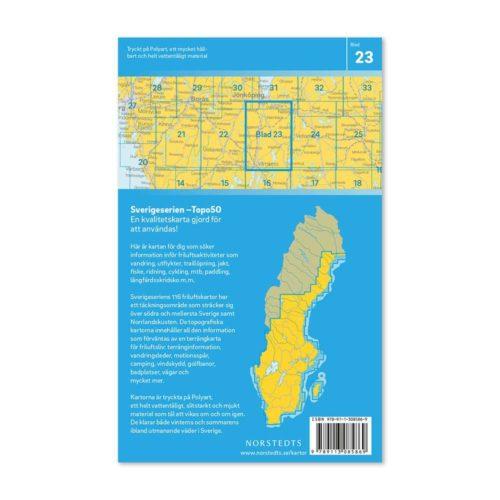 Friluftskarta 23 Värnamo Sverigeserien för mtb, karta för paddling 9789113085869 150 000 (2)