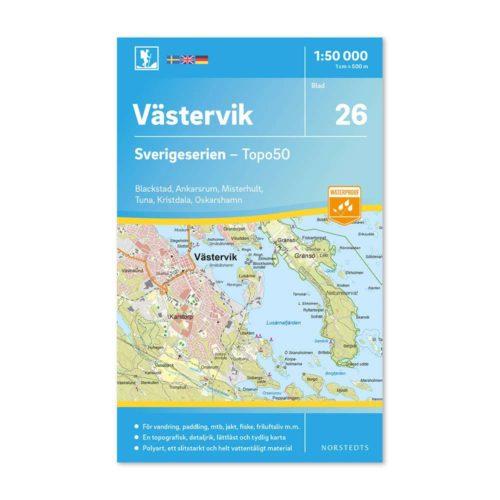 Friluftskarta 26 Västervik Sverigeserien 9789113085890