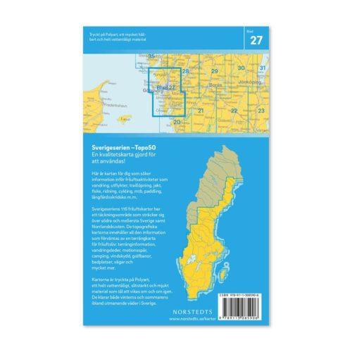 Friluftskarta 27 Göteborg Sverigeserien 9789113085906 (2)
