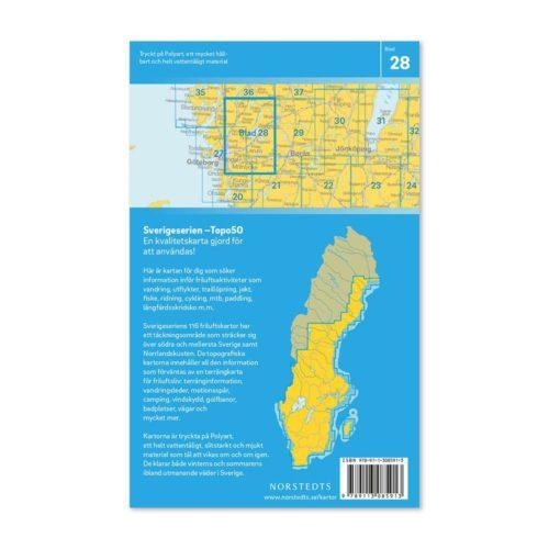 Friluftskarta 28 Lerum Sverigeserien 9789113085913 (2)