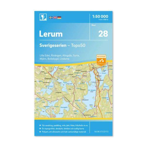 Friluftskarta 28 Lerum Sverigeserien 9789113085913