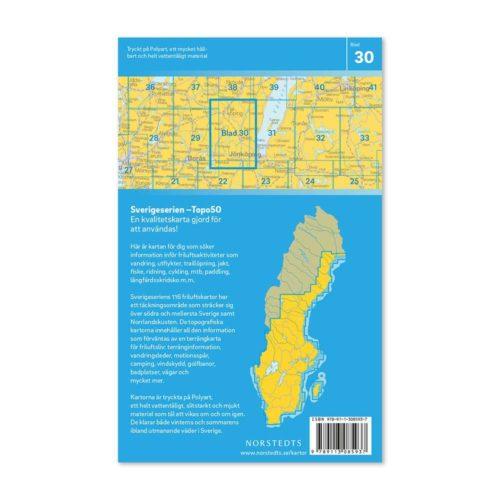 Friluftskarta 30 Falköping Sverigeserien 150 000 9789113085937