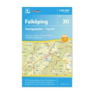 Friluftskarta 30 Falköping Sverigeserien skala 150 000 9789113085937