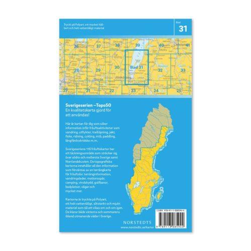 Friluftskarta 31 Jönköping Sverigeserien 9789113085944 (2)