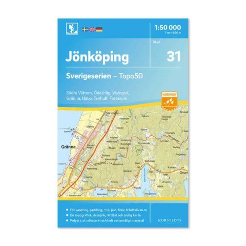 Friluftskarta 31 Jönköping Sverigeserien 9789113085944
