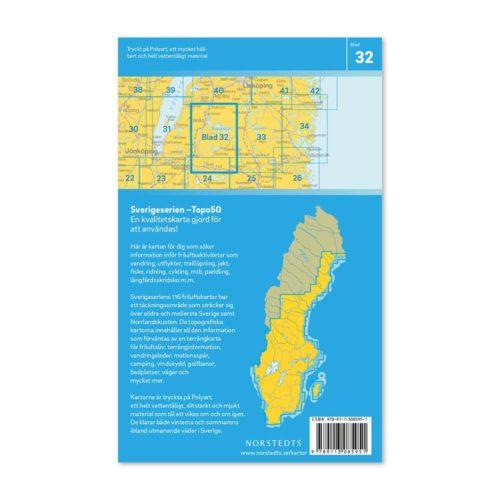 Friluftskarta 32 Tranås Sverigeserien sommen, boxholm, hestra, aneby, eksjö, ingatorp 9789113085951 (2)