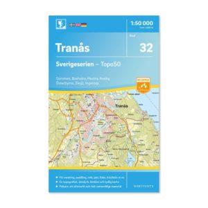 Friluftskarta 32 Tranås Sverigeserien sommen, boxholm, hestra, aneby, eksjö, ingatorp 9789113085951