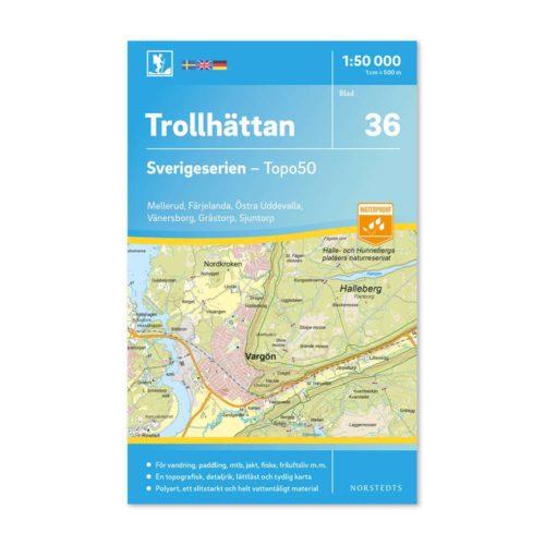 Friluftskarta 36 Trollhättan Sverigeserien 978911308599