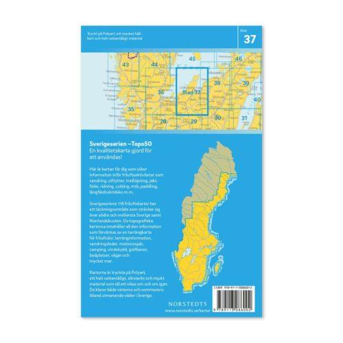 Friluftskarta 37 Lidköping Sverigeserien 9789113086002 (2)