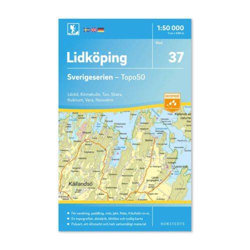 Friluftskarta 37 Lidköping Sverigeserien Vara, nossebro, tun, läckö, skara, kvänum, 9789113086002