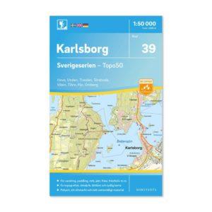 Friluftskarta 39 Karlsborg 150 000. Kartan täcker även in Hova, Unden, Tiveden, Töreboda, Viken, Tibro, Hjo och Omberg 9789113086026