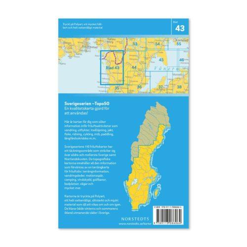 Friluftskarta 43 Strömstad 150 000. Kartan täcker även in Svinesund, Kosteröarna, Naverstad, Fjällbacka, Väderöarna och Dingle.art.nr 9789113086064 (2)