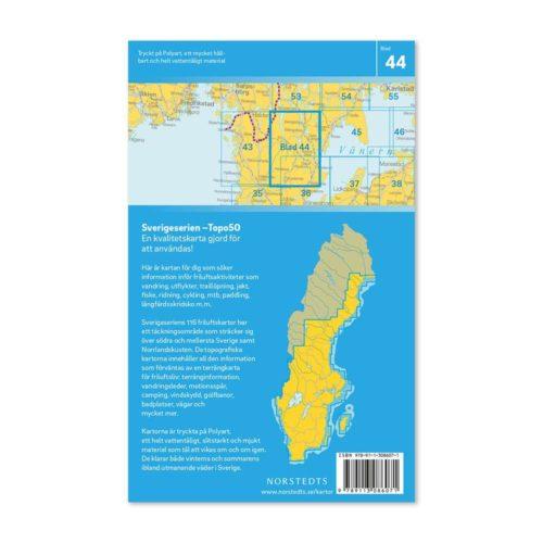 Friluftskarta 44 Ed 150000. Kartan täcker även in Tresticklan, Bengtsfors, Åsensbruk, Mellerud, Hedekas och Färgelanda.art.nr 9789113086071 (2)