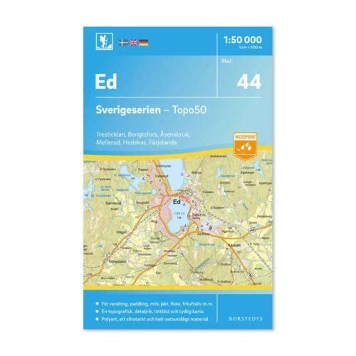 Friluftskarta 44 Ed 150000. Kartan täcker även in Tresticklan, Bengtsfors, Åsensbruk, Mellerud, Hedekas och Färgelanda.art.nr 9789113086071