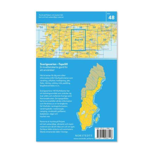 Friluftskarta 48 Finspång 150 000. Kartan täcker även in Odensbacken, Vingåker, Katrineholm, Sottern, Tisnaren, Simonstorp och Åby. 9789113086118 (2)
