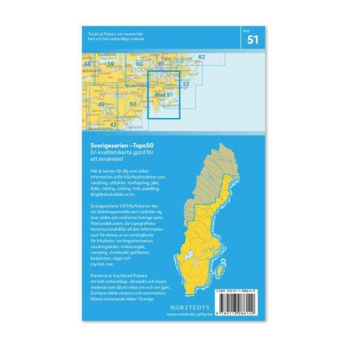 Friluftskarta 51 Södertörn 150 000. Kartan täcker även in Ekerö, Södra Stockholm, Tumba, Tyresta, Ute, Muskö, Västerhaninge, Nynäshamn och Torö. artnr 9789113086149