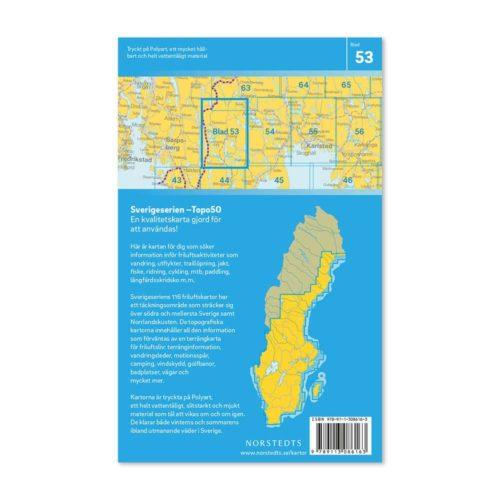 Friluftskarta 53 Årjäng 150 000. Kartan täcker även Koppom, Töcksfors, Foxen, Västra Glaskogen, Västra Silen, Östra Silen och Nössemark. art.nr 9789113086163 (2)