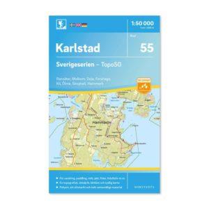 Friluftskarta 55 Karlstad 150 000 Kartan täcker även Ransäter, Molkom, Deje, Forshaga, Kil, Ölme, Skoghall och Hammarö. art.nr 9789113086187