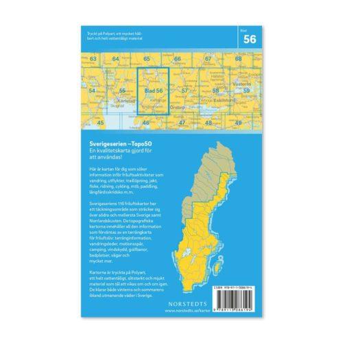 Friluftskarta 56 Karlskoga 150 000. Kartan täcker även Hällefors, Filipstad, Grythyttan, Storfors, Kristinehamn, Degerfors och Kilsbergen. art.nr 9789113086194 (2)