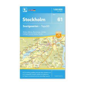 Friluftskarta 61 Stockholm 9789113086248