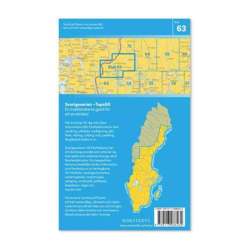 Friluftskarta 63 Charlottenberg Sverigeserien Art.nr 9789113086262 (2)