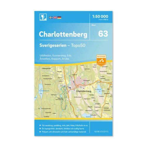 Friluftskarta 63 Charlottenberg Sverigeserien Art.nr 9789113086262