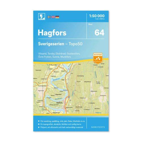 Friluftskarta 64 Hagfors Sverigeserien 150 000 9789113086279