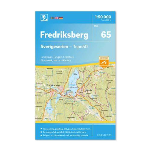 Friluftskarta 65 Fredriksberg Sverigeserien 150 000 Kartan täcker även Lindesnäs, Tyngsjö, Lesjöfors, Nordmark och Norra Hällefors.9789113086286