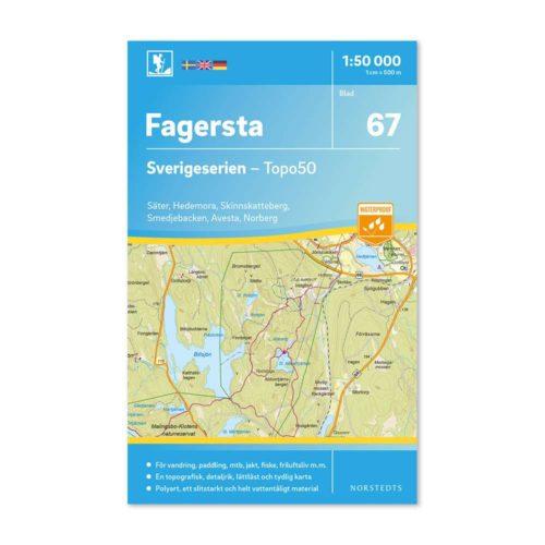 Friluftskarta 67 Fagersta Sverigeserien 150 000 Kartan täcker även Säter, Hedemora, Skinnskatteberg, Smedjebacken, Avesta och Norberg.