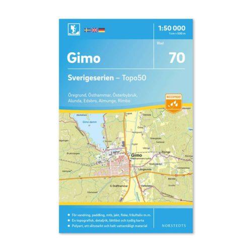 Friluftskarta 70 Gimo Sverigeserien 150 000 Kartan täcker även Öregrund, Östhammar, Österbybruk, Alunda, Edsbro, Almunge och Rimbo 9789113086330