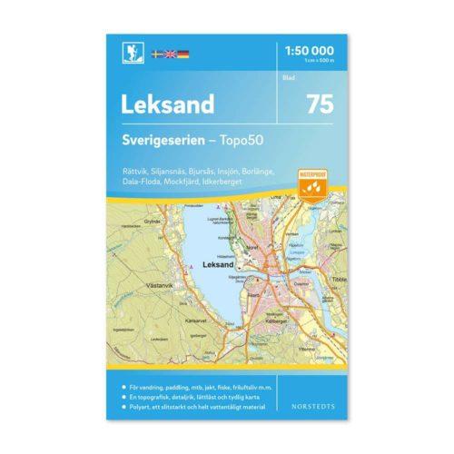 Friluftskarta 75 Leksand Sverigeserien 150 000 artnr 9789113086385