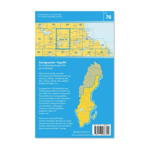 Friluftskarta 76 Falun Sverigeserien 150 000 art 9789113086392 (2)