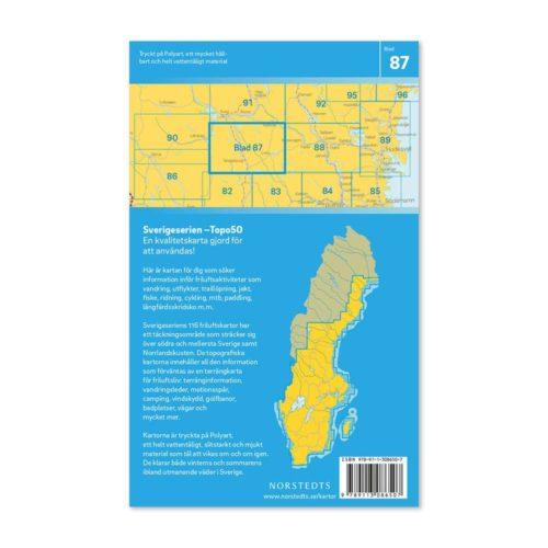 Friluftskarta 87 Hamra vandringskarta 9789113086507 Sverigeserien 150 000 (2)