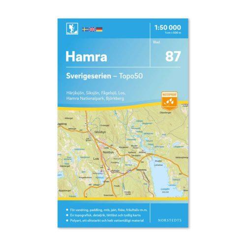 Friluftskarta 87 Hamra vandringskarta 9789113086507 Sverigeserien 150 000