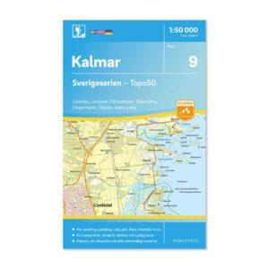 Friluftskarta 9 Kalmar 9789113085722 Karta Läckeby, Lindsdal, Färjestaden, Söderåkra, Degerhamn, Ölands södra udde