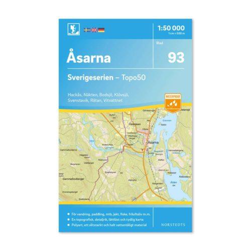 Friluftskarta 93 Åsarna Sverigeserien karta för vandring 9789113086569 framsida