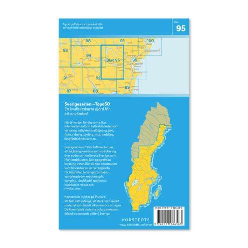 Friluftskarta 95 Stöde Sverigeserien karta vandra 9789113086583 (2)