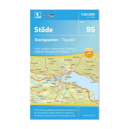 Friluftskarta 95 Stöde Sverigeserien karta vandra 9789113086583