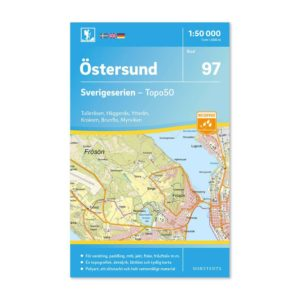 Friluftskarta 97 Östersund Sverigeserien 9789113086606 framsida