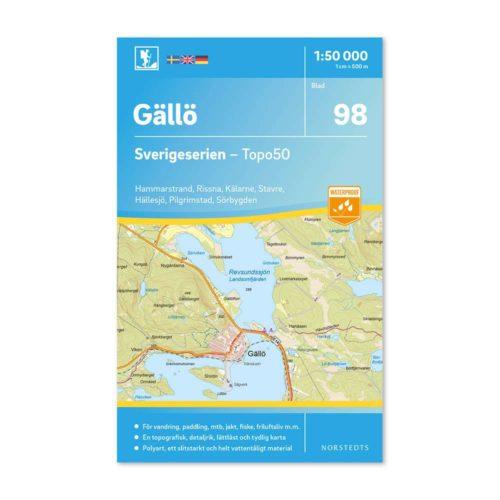 Friluftskarta 98 Gällö Sverigeserien 9789113086613 karta för vandring