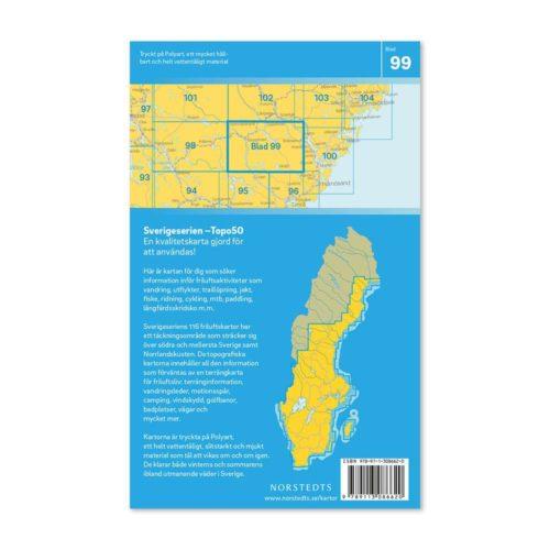 Friluftskarta 99 Bispgården Sverigeserien Ulkokartta Ruotsi 9789113086620 (2)