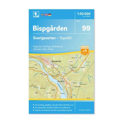 Friluftskarta 99 Bispgården Sverigeserien retkeilykartta Ruotsi 9789113086620