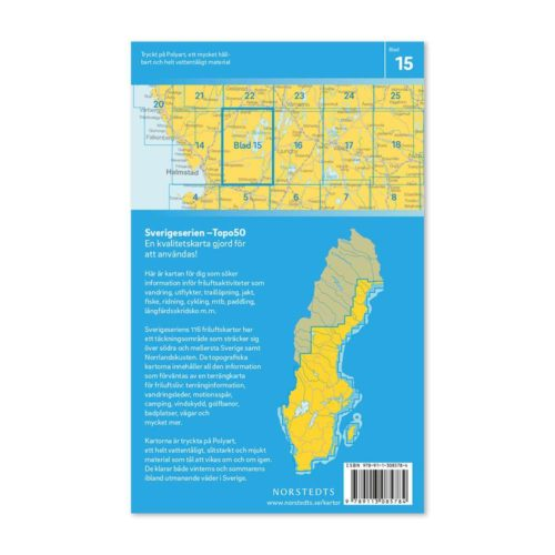 Friluftskarta Sverigeserien Bolmen 9789113085784 (2)
