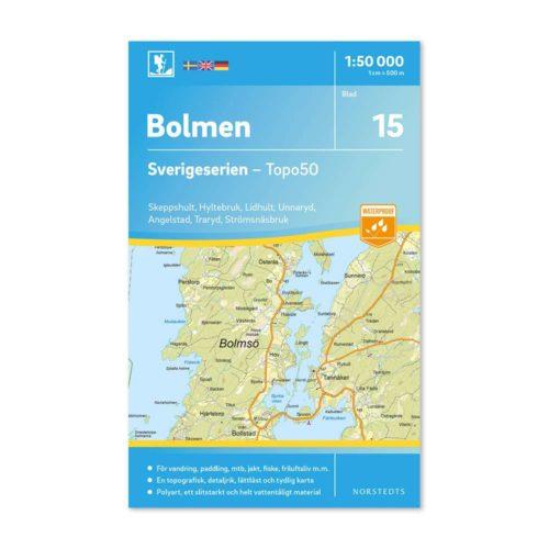 Friluftskarta Sverigeserien Bolmen 9789113085784