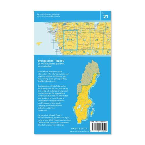 Friluftskarta för mtb,vandring,paddling 21 Kinna Sverigeserien 150 000 9789113085845 (2)