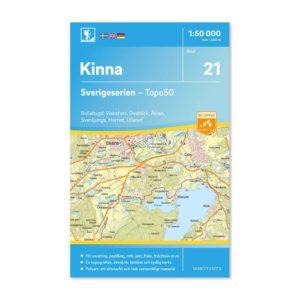Friluftskarta för mtb,vandring,paddling 21 Kinna Sverigeserien 150 000 9789113085845
