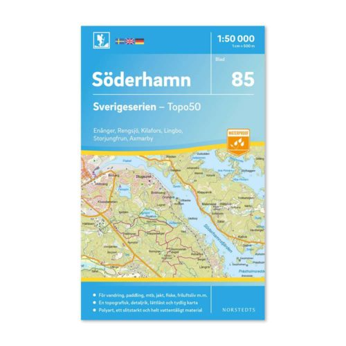 Friluftskarta vandringskarta 85 Söderhamn art 9789113086484 Sverigeserien 150 000